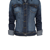 MANGO - NEW! - Worn effect denim jacket