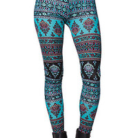 LA Hearts Cotton Span Leggings - Womens Pants - Blue