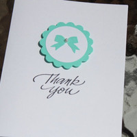 Tiffany Blue Thank You Cards - Wedding, Bridal Shower