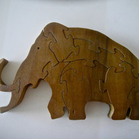 Wooden Elephant Puzzle