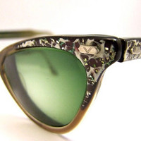STUNNING  Vintage 1950s  Cats eye  Eyeglasses