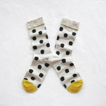 Black Spotty Bonne Maison Cotton Socks