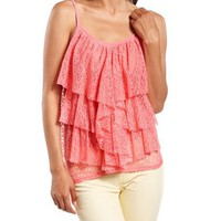 Tiered Sheer Lace Tank: Charlotte Russe