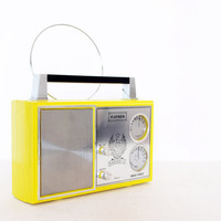 Vintage yellow radio