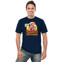Porkins Crispy Bacon Fries T-Shirt - Navy,