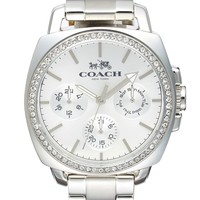 COACH 'Boyfriend' Crystal Bezel Bracelet Watch, 40mm | Nordstrom