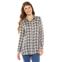 Mixed Media Thermal Flannel Tunic from S.o. R.a.d. Collection by Awesomeness TV - Juniors