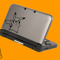 Pikachu 3 Pokemon decal for 3DS XL, 3DS