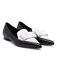 ERDEM | Monochrome Pointed Loafers with Bow Detail | Browns fashion & designer clothes & clothing