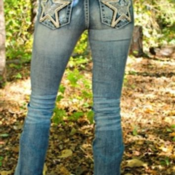 Miss Me Star Studded Jeans