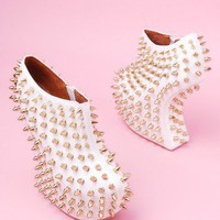 Jeffrey Campbell Shadow Stud in White Gold
