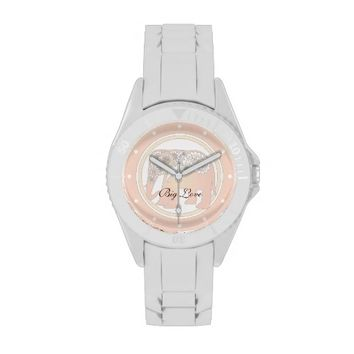 Pastel Rose Pink Paisley Elephant Personalized Elegant Chic Wrist Watches for Women - Big Love - More styles and colors are available