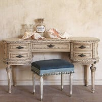 [sold out]  One of a Kind Vintage Vanity Louis XVI Cream