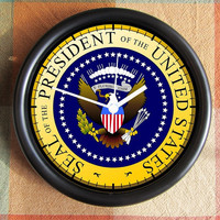 PRESIDENTIAL SEAL ELECTION 2012  Presidental Campaign 10 inch Resin Wall Clock Under 25.00   Custom Clocks too- any subject- Contact Me