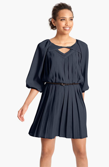 Jessica Simpson Pleated Crpe de Chine Blouson Dress | Nordstrom