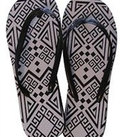 Black and White Pattern - Shower Sandal