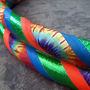 Hula Hoop, Collapsible, Tie Dye UV Green, Blue, & UV Orange, Ready to Ship 45in