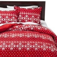 Fair Isle Flannel Duvet Cover Set