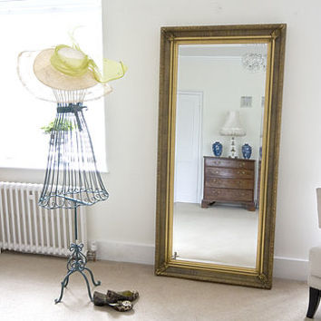Gold Fluted Full Length Mirror
