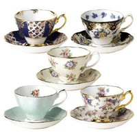 Royal Albert 100 Years of Royal Albert Teacups and Saucers,Set of 5,1900-1940: Amazon.com: Kitchen &amp; Dining