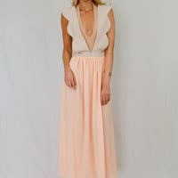 apple&amp;eve  HIRE Scollop Maxi Dress