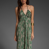 T-BAGS Classic V Halter Maxi in Bamboo at Revolve Clothing - Free Shipping!