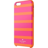 kate spade new york - Kinetic Stripe Hybrid Hard Shell Case for Apple® iPhone® 6 Plus - Pink/Orange