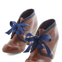 Chelsea Crew Menswear Inspired, Vintage Inspired, 20s, French All Sweetness and Delightful Bootie in Cognac