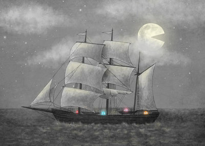 Ghost Ship  Art Print by Terry Fan | Society6