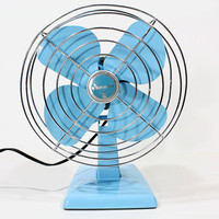 Refurbished Eskimo Vintage Blue Electric Fan