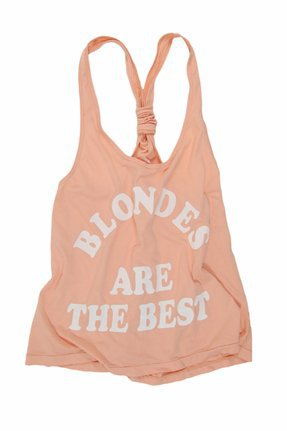 Rebel Yell Blondes are Best Jersey Scrunchie Tank in Peach