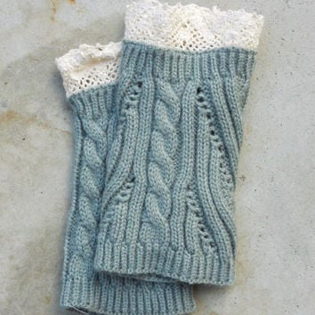 Cozy Knit Boot Cuffs in Gray [6329] - $14.00 : Vintage Inspired Clothing & Affordable Dresses, deloom   Modern. Vintage. Crafted.