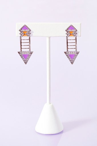 Neon Arrow Earrings