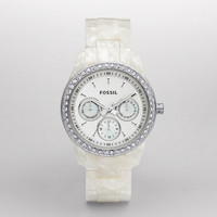FOSSIL® Watch Styles Natural Watches:Women Stella Resin Watch - Pearlized White ES2790
