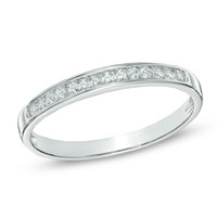 1/10 CT. T.W. Diamond Anniversary Band in Sterling Silver