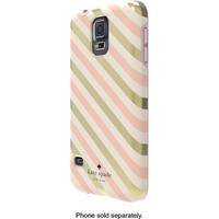 kate spade new york - Diagonal Stripe Hybrid Hard Shell Case for Samsung Galaxy S 5 Cell Phones - Gold/Cream/Blush
