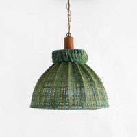 Vintage Green Pendant Lamp by Hindsvik on Etsy