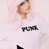 Wildfox Couture Punk Baggy Beach Jumper in Pouty Pink