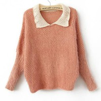 Pink Sweet Doll Neck Sweater$46.00