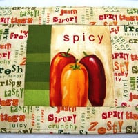 Place Mat, Mug Rug, Snack Mat, Colorful Peppers