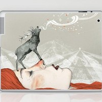 Deer Lady! Laptop & iPad Skin by Sandra Dieckmann | Society6