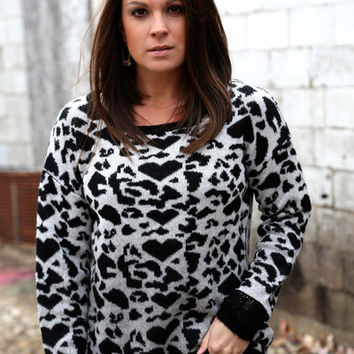 We Heart Cheetah Knit