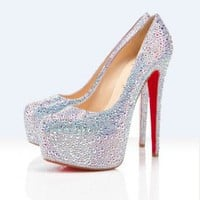 Christian Louboutin daffodile platform pumps