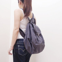 Back To School Sale - KINIES ESSENTIAL in Gray  -  Multipurpose Backpack / Shoulder bag / Cross Body / Tote