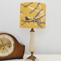 Quincy Lampshades — Yellow Vintage Aviary