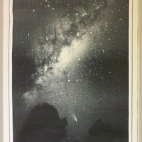 Vintage Space Poster - Halley&#x27;s Comet
