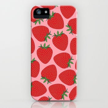 Strawberries iPhone & iPod Case by Ornaart