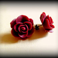 Vintage Rose Stud Earrings