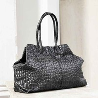 LIEBESKIND Chelsea Croc-Embossed Leather Tote Bag-