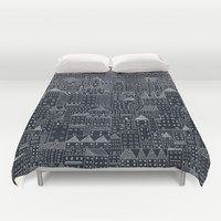city at night Duvet Cover by Rubyetc
